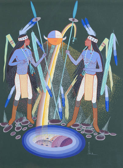 The James T. Bialac Native American Art Collection is on view through Dec. 30 at the Fred Jones Jr. Museum of Art in Norman. A guest lecture Thursday will cover Bialac�s legacy as a private art collector, and a free Family Day on Nov. 18 offers art activities for all ages. PHOTO PROVIDED