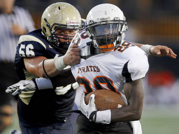 Putnam City's Desmond Tilly verbally committed to play football at Langston next season.