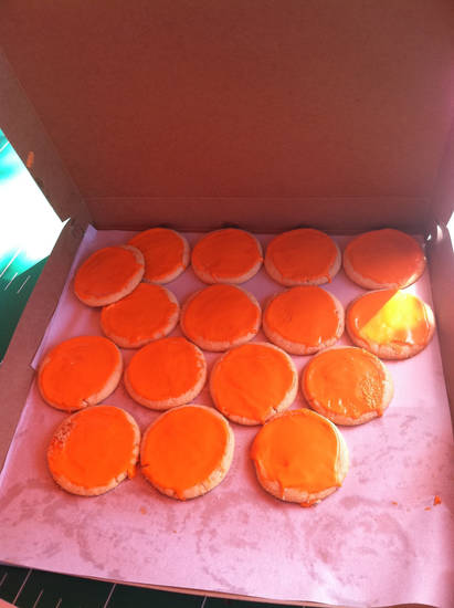 Cowboys Tailgate: Playing Hookey's OSU orange cookies