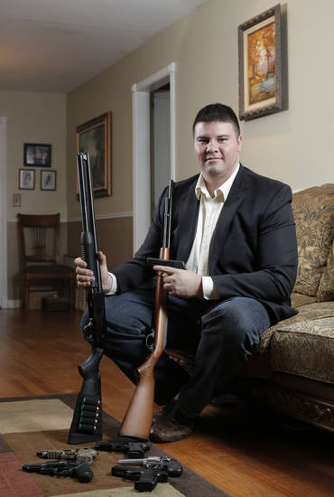 Oklahoma Senator Ralph Shortey poses for a photo at his home in Oklahoma City, Okla., Sunday, Feb. 3, 2013.  Photo by Garett Fisbeck, For The Oklahoman