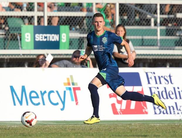 Max Gunderson earned a spot on the USLPRO Team of the Week. PHOTO BY STEVEN CHRISTY, ENERGY FC