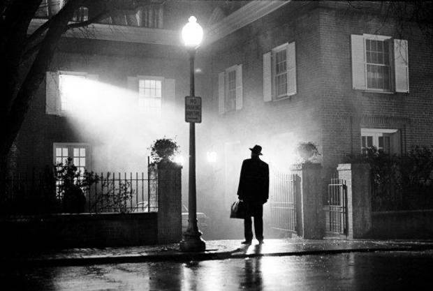 "This image provided by Warner Home Video shows actor Max Von Sydow as Father Merrin silhouetted in the light from the bedroom window and street lamp in the 1973 movie ""The Exorcist."" AP photo <strong></strong>"