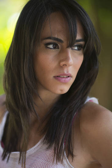 In this Dec. 4, 2012 photo, Brazilian transgender model Felipa Tavares poses for portraits during a photo session in Rio de Janeiro, Brazil. The 6-foot-tall Tavares is among Brazil's small but growing ranks of transgender models _ leggy, high-cheekboned sirens who were born men and are causing a splash here as well as in Paris and other international fashion capitals. (AP Photo/Felipe Dana)