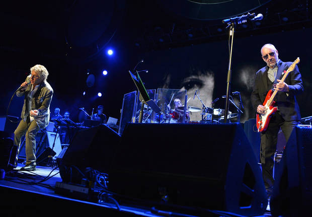 "The Who's Roger Daltrey, left, and Pete Townshend perform during The Who ""Quadrophenia and More"" World Tour opening night Nov. 1 at BB&T Center in Sunrise, Fla.  PHOTO PROVIDED <strong>Rick Diamond</strong>"