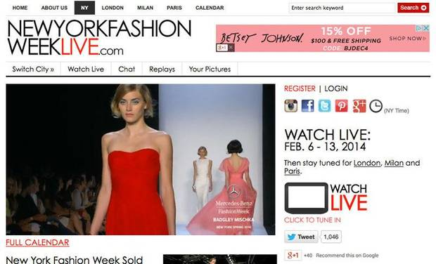 New York Fashion Week Live (MB, MADE and Independent).  (PRNewsFoto/Fashion Week Online)