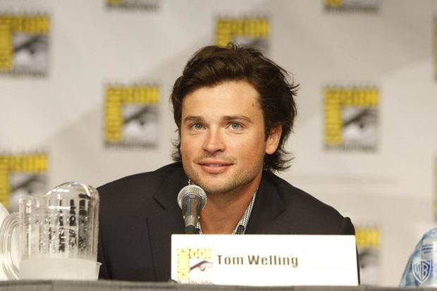 Tom Welling at Smallville, via Smallville's official Facebook page.