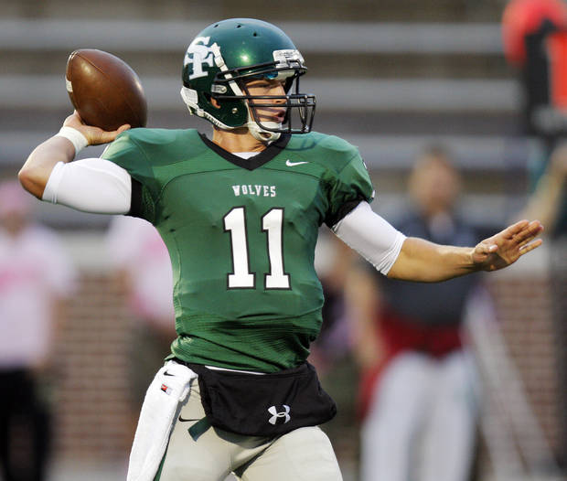 Edmond Santa Fe quarterback Justice Hansen picked up a Missouri offer on Saturday. PHOTO BY NATE BILLINGS, THE OKLAHOMAN