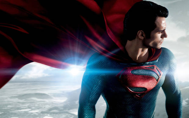 "Henry Cavill is Superman in ""Man of Steel.""   Warner Bros. photo <strong></strong>"