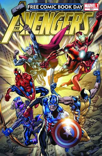 The �Avengers� comic to be given away. Marvel Comics