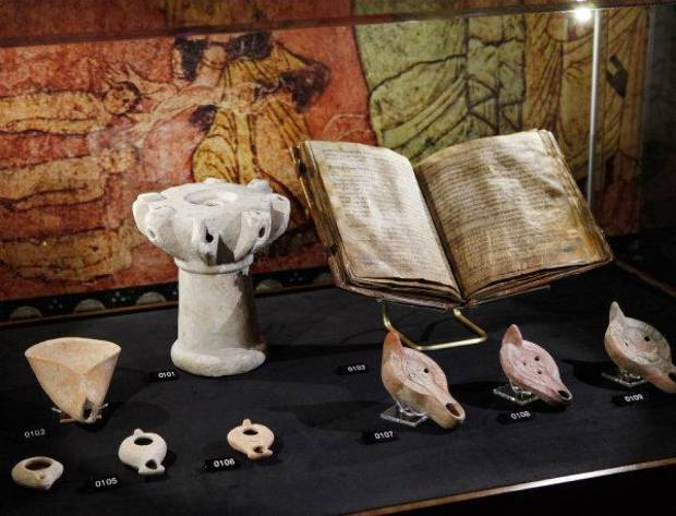 "These items are on display in ""Passages,"" a traveling exhibition of rare biblical texts and assorted artifacts featured at the Oklahoma City Museum of Art. Photo by Jim Beckel, The Oklahoman  <strong>JIM BECKEL</strong>"