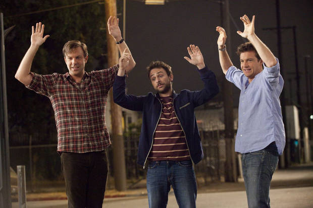 "(L-r) JASON SUDEIKIS as Kurt Buckman, CHARLIE DAY as Dale Arbus, and JASON BATEMAN as Nick Hendricks in New Line Cinema's comedy ""HORRIBLE BOSSES,"" a Warner Bros. Pictures release."