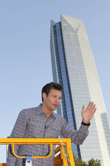 Ryan Seacrest at the American Idol auditions at the Chesapeake Energy Arena in downtown Oklahoma City, Friday, July 20 , 2012. Photo By David McDaniel/The Oklahoman <strong>David McDaniel - The Oklahoman</strong>