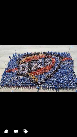 "Cross Timbers students & staff ""Thundering Up\"" on 10/2/12"
