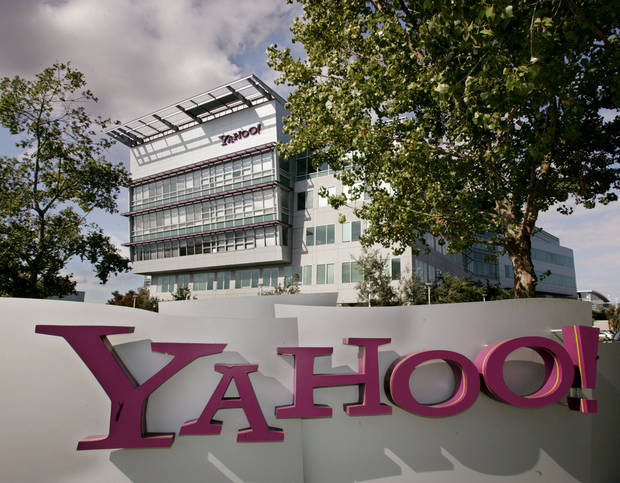 An exterior view of Yahoo Inc. headquarters in Sunnyvale, Calif., is shown. AP Photo