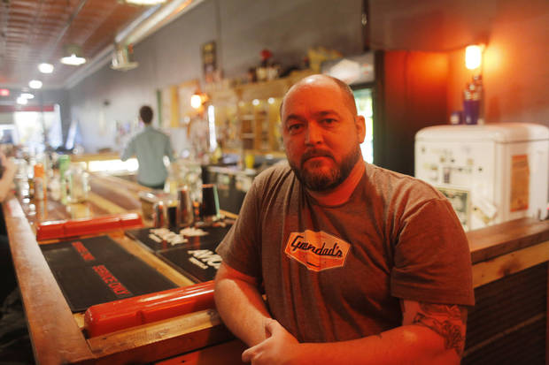 Greg Seals, owner of Grandad's Bar, 317 NW 23, is part of the 23rd Street revival, Thursday, April 4, 2013. Photo by Doug Hoke, The Oklahoman