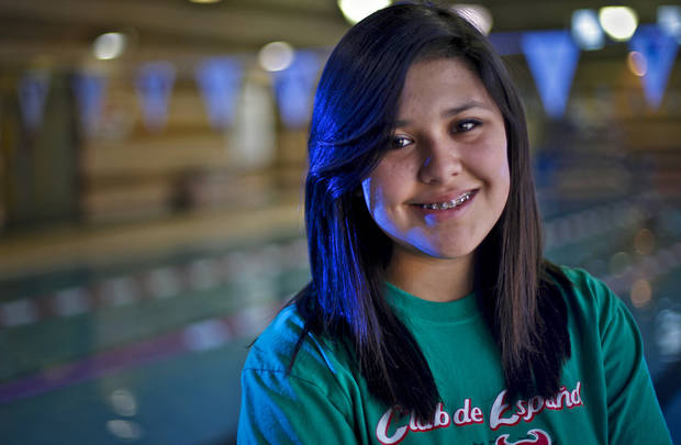 Mt. St. Mary's junior swimmer Caitlin Baker poses for a photo at the downtown Oklahoma City YMCA on Tuesday, Jan. 18, 2011, in Oklahoma City, Okla.   Photo by Chris Landsberger, The Oklahoman