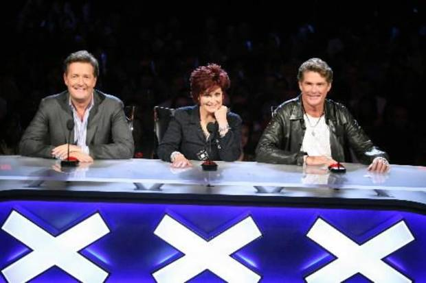 """America's Got Talent"" judges Piers Morgan, from left, Sharon Osbourne and David Hasselhoff. (AP photo)"