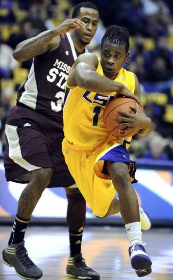 Anthony Hickey, a three-year starter at LSU, will contend to be OSU's starting point guard in 2014-15. (AP Photo/The Advocate, Patrick Dennis)