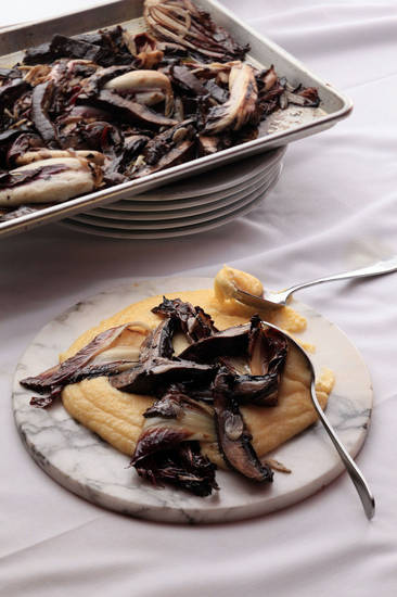 Soft Polenta with Grilled Portobellos and Treviso makes for the ultimate Italian comfort food. MCT Photo