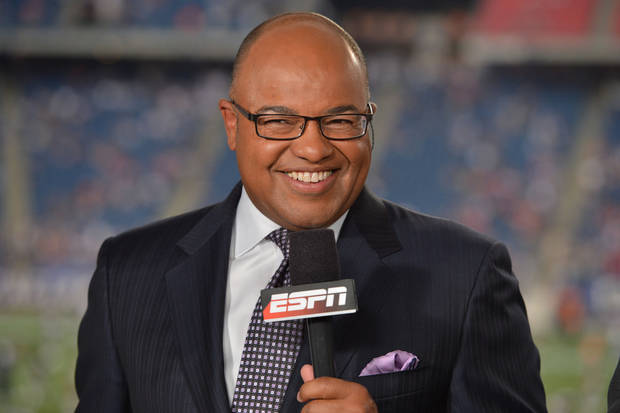 ESPN play-by-play man Mike Tirico. PHOTO COURTESY ESPN <strong>Allen Kee</strong>