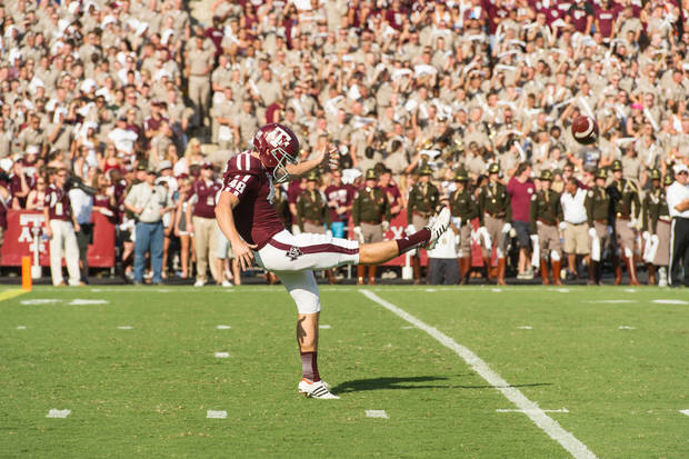 Ryan Epperson is a four-year starting punter and a petroleum engineering major at Texas A&M. He interned at Devon Energy Corp. this summer and has a job lined up with the Oklahoma City energy company when he graduates.  Photo provided