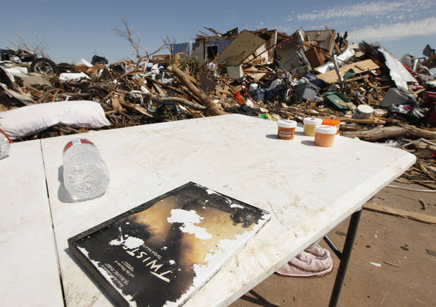 "The movie ""Twister"" was an item rescued from debris in a home in the tornado devastated part of Moore, OK, Thursday, May 23, 2013,  Photo by Paul Hellstern, The Oklahoman"
