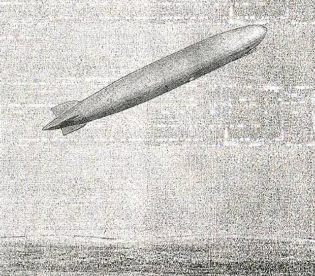 Graf Zeppelin over Oklahoma.