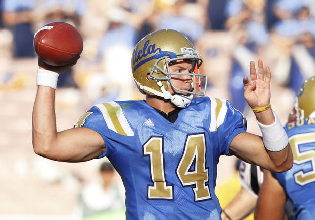 UCLA freshman quarterback Kevin Prince has a broken jaw.  AP Photo