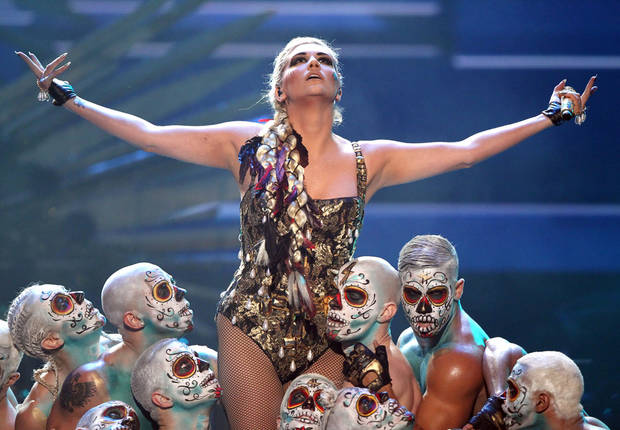 Ke$ha performs �Die Young� at the 40th Annual American Music Awards on Sunday, Nov. 18, 2012, in Los Angeles.(Photo by Matt Sayles/Invision/AP)