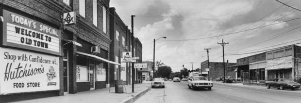 "STREET SCENES:  ""Long ignored, Old Town in McAlester is shedding its role as the area's stepchild and moving toward becoming something of a tourist attraction.""  Staff Photo by Michal Thompson.  Original dated 8/16/1978."
