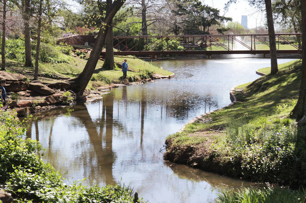 A collection of native trees is part of the character of Will Rogers Gardens, which features a newly improved arboretum. Oklahoma City celebrates Arbor Week next week. Photos by Paul Hellstern, The Oklahoman