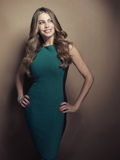 Columbian actress Sofia Vergara poses for a portrait, on Wednesday, April 17, 2013 in New York. Vergara is currently on hiatus from �Modern Family,� but has several films coming out , including a starring role in the Robert Rodriguez thriller, �Machete Kills.� (Photo by Victoria Will/Invision/AP)