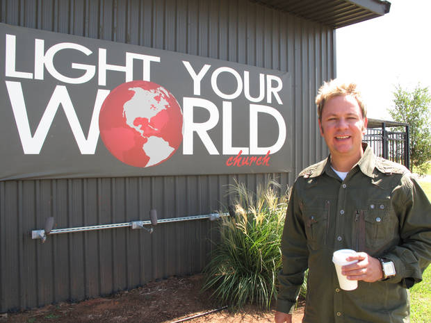 The Rev. Kurtis Ivey, pastor of Light Your World Church in Okarche, stands outside the church building at 4550 Northwest Expressway. <strong>CARLA HINTON - CARLA HINTON</strong>