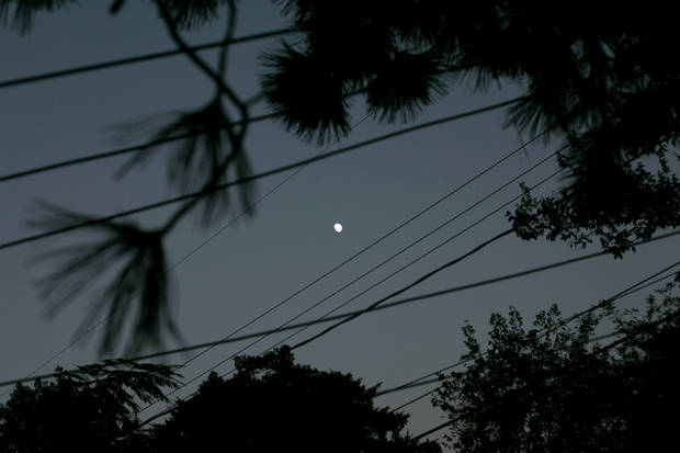 I see it, the moon. Photographed on Sept. 18, 2010. Photo by John Clanton, The Oklahoman