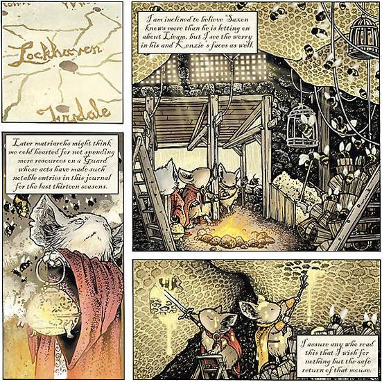 A page from the Free Comic Book Day story featuring the Mouse Guard. Images provided by Archaia