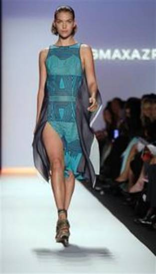 BCBGMAXAZRIA for spring 2012, shown in New York on Sept. 8, 2011, during Fashion Week. AP PHOTO