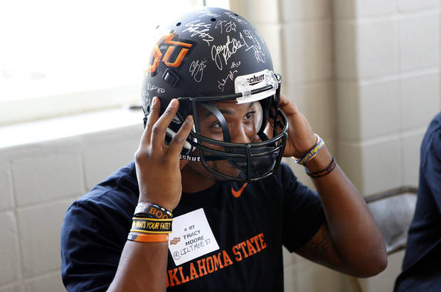 Tracy Moore might be OSU�s go-to receiver this season.  Photo by Sarah Phipps, The Oklahoman