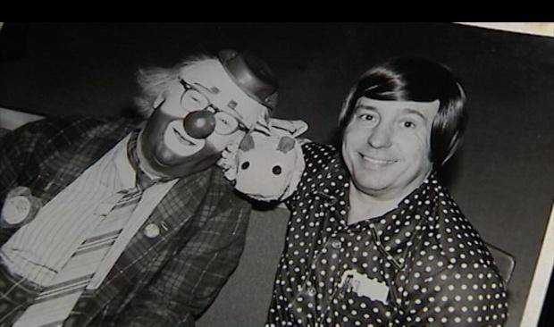 Edward P. Birchall as Ho Ho the Clown and Bill Howard as Pokey the Puppet. (KOCO photo)