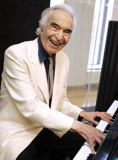 FILE - In this July 12, 2007 file photo, jazz legend Dave Brubeck rehearses at Sirius Satellite Radio studios in New York. Brubeck, a pioneering jazz composer and pianist died Wednesday, Dec. 5, 2012 of heart failure, after being stricken while on his way to a cardiology appointment with his son. He would have turned 92 on Thursday. (AP Photo/Richard Drew, File)
