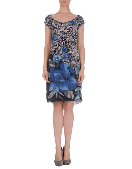 Floral prints are making a big comeback this spring. Here, Sete di Jaipur short dress from Yoox.com for $29. (Courtesy Yoox.com via Los Angeles Times/MCT)