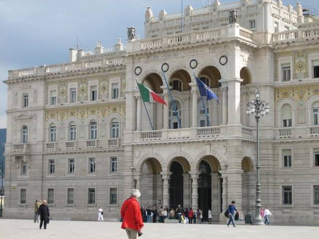 The Governor's Palace is one of half a dozen buildings on the perimeter of Piazza dell'Unita d'Italia.