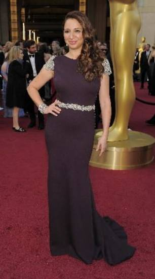 Maya Rudolph arrives before the 84th Academy Awards on Sunday, Feb. 26, 2012, in the Hollywood section of Los Angeles. (AP)