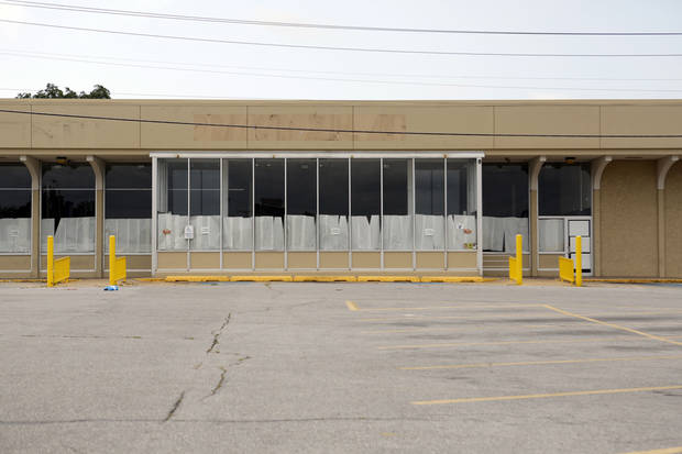 "This former Homeland supermarket at NW 39 and Pennsylvania probably ""will not last long"" on the market, says broker Mark Inman of CB Richard Ellis-Oklahoma. So much big-box space has been absorbed the past couple of years that such spaces are in high demand. <strong>Steve Gooch - The Oklahoman</strong>"