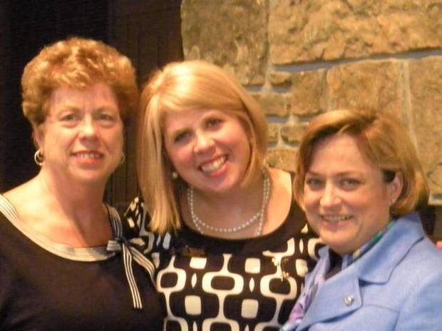 THE ARKANSAS TRAVELER....Flo Stanton,  Kate Stanton and Ann Bordelon  were at the Founder's Day luncheon at the University of Arkansas,  Fayetteville campus, where Kate was keynote speaker for Founder's Day. (Photo provided).