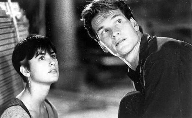 "Demi Moore and Patrick Swayze in the 1990 film ""Ghost."""