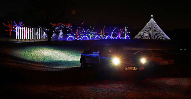 The Downs Family Christmas Light Ministry draws hundreds of visitors each year to their home at 2900 72nd Ave. SE. PHOTO BY STEVE SISNEY, THE OKLAHOMAN
