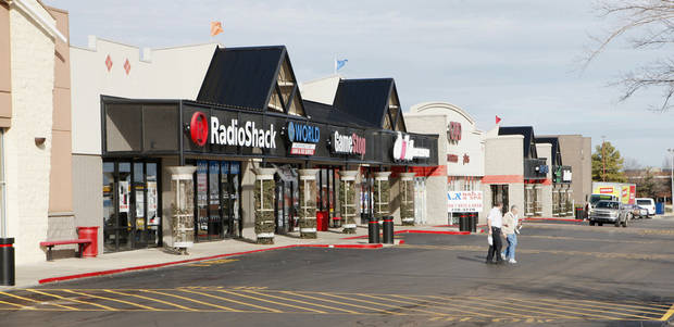 Rockwell Plaza Shopping Center is on the southwest corner of Northwest Expressway and Rockwell Avenue. PHOTO BY PAUL B. SOUTHERLAND, The Oklahoman