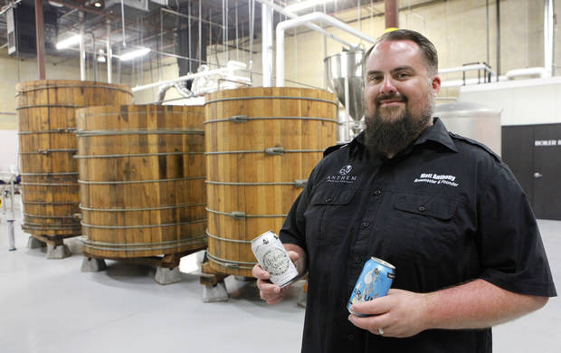 Anthem Brewing Co. brewmaster Matt Anthony at his Oklahoma City headquarters, Tuesday, July 29, 2014. Photo by David McDaniel, The Oklahoman