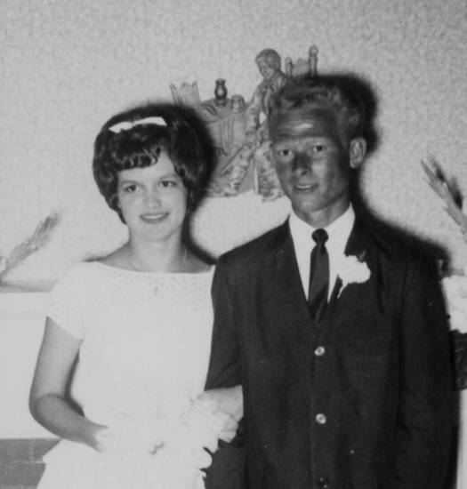 Peggy and Mitch Harris, of Edmond, were married July 14, 1962, in Edmond.