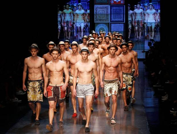 D&G, Dolce and Gabbana's secondary line,for spring 2012 shown on the runway in Milan. AP PHOTO.